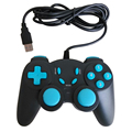 New Wired USB Game Controller Dual Vibration PC Gamepad USB Joystick