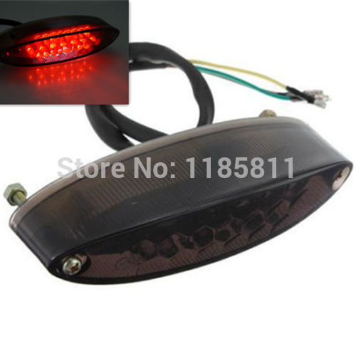 Smoke 28 Led Tail Brake Stop License Plate Light For Suzuki DR DRZ Z 650 400 SM LT Honda XR CR Quad ATV MX Dual Sport Cafe Racer(China (Mainland))