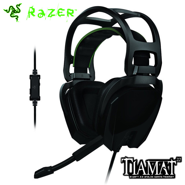 Razer Tiamat 2.2 Analog Gaming Headset Dual bass drivers for deep, thumping bass Comfortable and Precise Slim(China (Mainland))