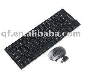 wholesale and retail 2.4G Wireless Ultra-Thin Keyboard Mini Mouse USB Receiver Combos