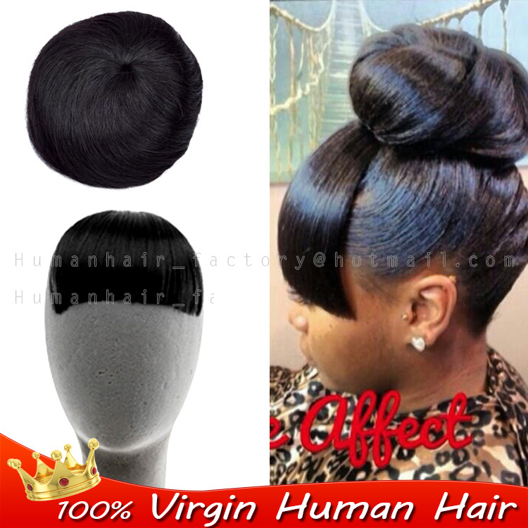 Clip In Fringe Straight Short Hairpiece Real H Uman Hair