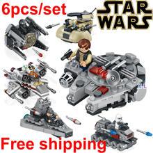 6pcs/set 78085 Star Wars warships spaceship clone wars star wars troopers ships Building Blocks Compatible with Legod toys 2016(China (Mainland))