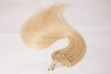 "Factory price Hair style micro ring straight bleach blonde or other inch 24"" 95-105g/pack the cheapest hair extension wz-384(China (Mainland))"