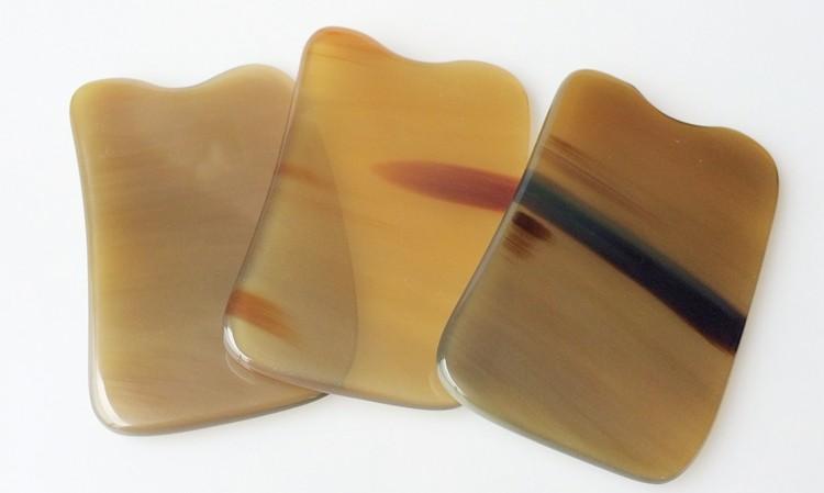 Beauty massage buffalo horn scraping plates stovepipe body face massage use 5/6/7mm free shipping(China (Mainland))