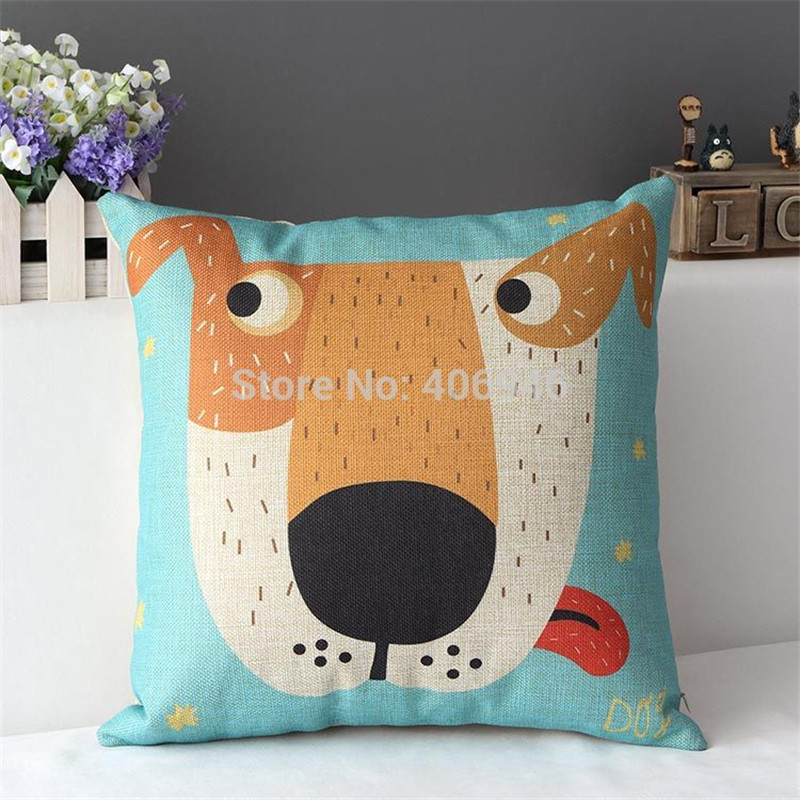 17'' Newest Cartoon Characters Cushion Pillow no insert Kids GIFT Throw Pillow Hedgehog Dog Chick Run Tree Blind Person Pattern(China (Mainland))
