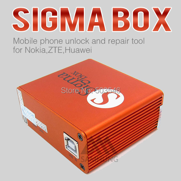 100% Original Latest Sigma Box with 9cables mobile phone unlock and repair tool for Nokia,ZTE,Huawei(No activation PACK1)(China (Mainland))