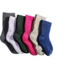 Top Fashion Free Shipping Winter Children Thick Warm Cotton Socks Baby Sock 2-8 Y Girls Boys Solid Socks,kid 6pair Unisex(China (Mainland))