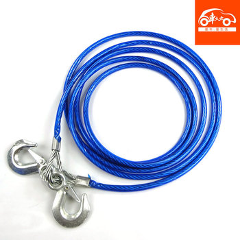 Car steel wire trailer rope 5 off-road trailer hook traction rope belt pulling rope auto supplies