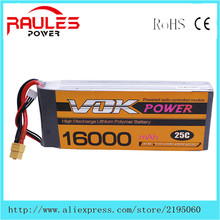 Vok ZOP Power Lithium Li – polymer battery Lipo 11.1 V 16000 Mah 3 S 25C XT60 plug for RC Helicopter Drone aircraft Qudcopter