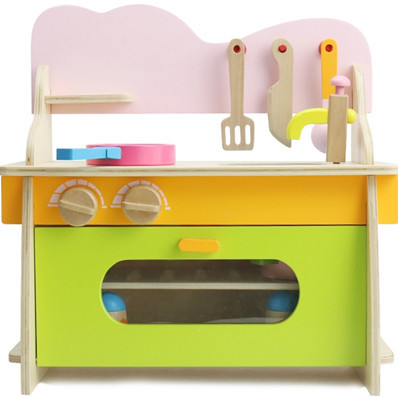 Child Birthday Gift Wooden Kitchen Toys Baby Pretend Play Wooden Toys Educational Baby Toys
