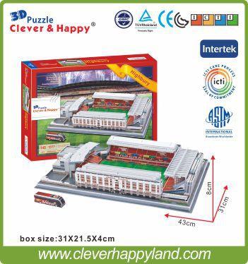 Hot Sale 2015 New Product Puzzle 3D stadium Model Arsenal Football FC Club Home Highbury(Arsenal) Stadium London Souvenir(China (Mainland))