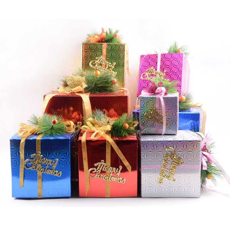 christmas decorations supplies gift boxes ornaments new