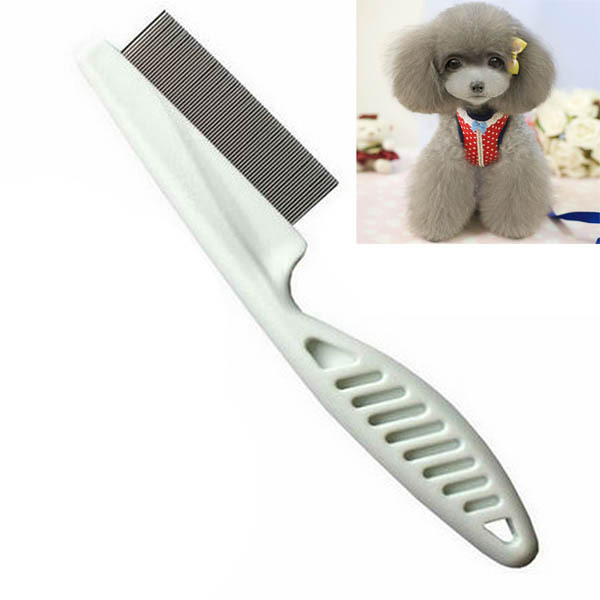 Best Selling Pet Dog Hair Flea Comb Cleaning Tool Stainless Pin Puppy Cat Grooming Brush Comb(China (Mainland))