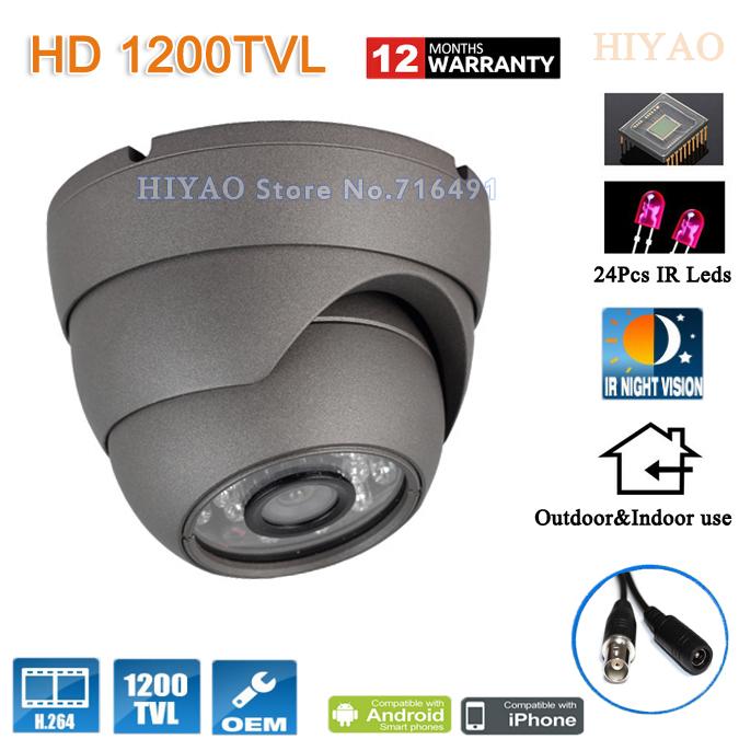 Free shipping 2015 NEW SONY CMOS HD 1200TVL Waterproof Outdoor security camera 24 Pcs IR led CCTV Cameras(China (Mainland))