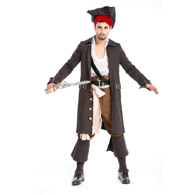 Halloween pirate costume for men, men Pirates of the Caribbean costume, Men pirate cosplayОдежда и ак�е��уары<br><br><br>Aliexpress