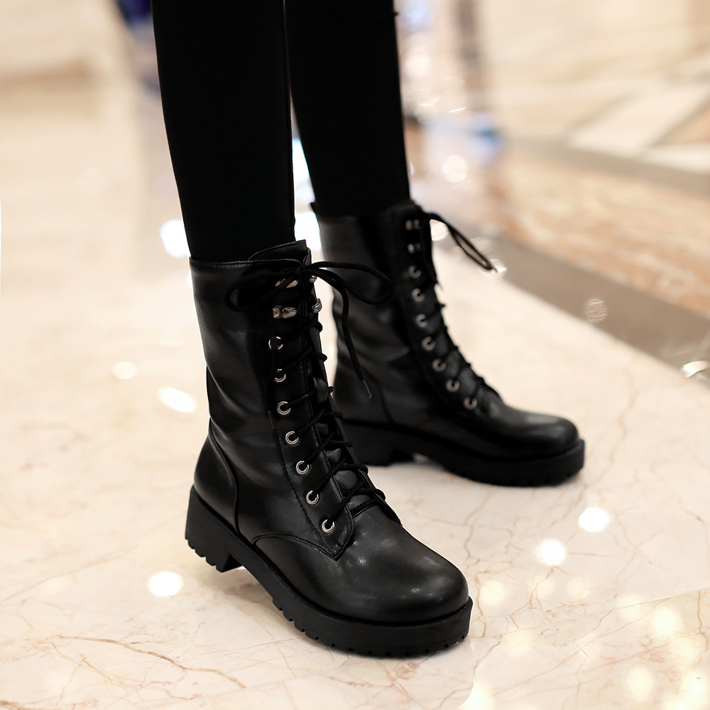 Ankle Combat Boots - Cr Boot