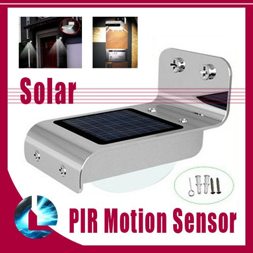 Waterproof IP65 Solar Powered Home Outdoor 16 LED Wall Camping Light PIR Motion Sensor Garden ...
