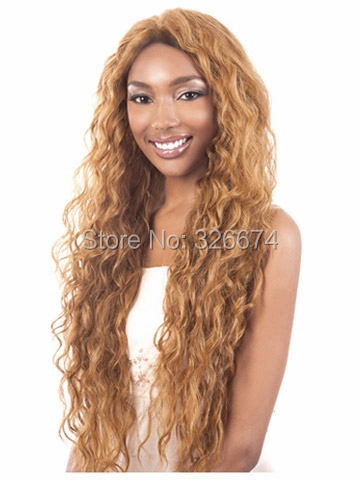 hair products natural afro long layered blonde wig
