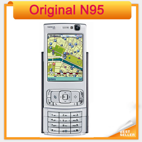 Original N95 Nokia Mobile phone 5MP 3G WIFI GPS Cellphone(China (Mainland))