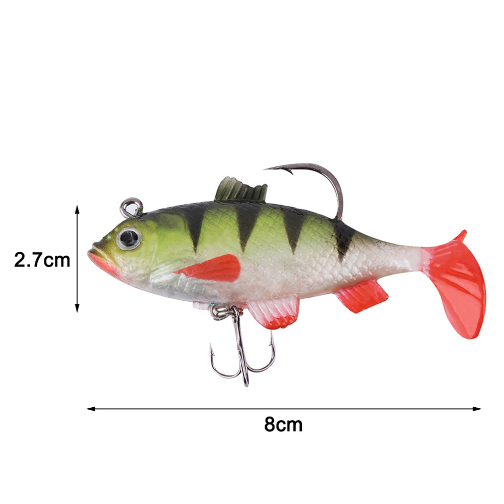 1Piece 11g 8cm Fishing lures sea fishing tackle soft bait luminous lead fishing artificial bait jig wobblers rubber silicon lure<br><br>Aliexpress