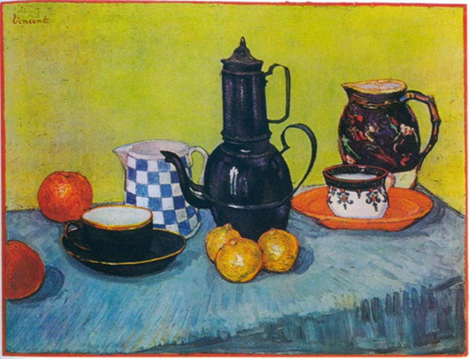Enamel Coffeepot, Earthenware And Fruit Of Vincent Van Gogh Reproduction Oil Painting On Canvas Wall Art For Home Deco wholesale(China (Mainland))