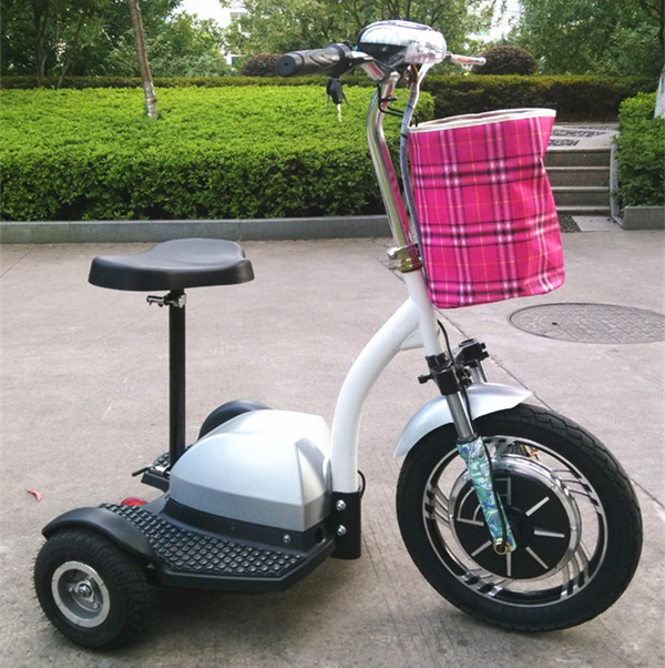 Brand new 2014 3 Wheels Electric Tricycle scooter Mobility Bikes Motorbike 48V brushless motor With Seat + Light for disabled(China (Mainland))