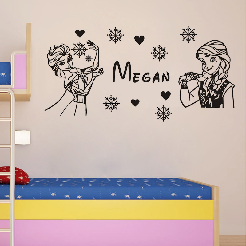 Diy Name Wall Art For Nursery : Snow queen elsa anna diy personalized name wall