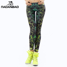 New Arrival 3D Printed color Women leggings Ray fluorescence leggins woman  KDK1401(China (Mainland))