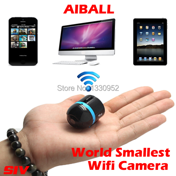 Free shipping NEX world smallest mini hidden wifi camera AI BALL ip camera(China (Mainland))