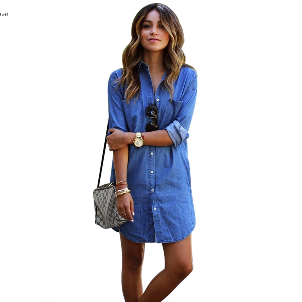 Unique  Blue Denim Dress Blue Womens Dress  Stetson  Apparel Top Dress