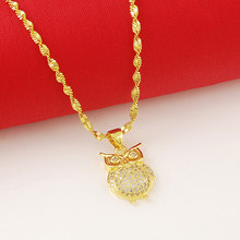 New Arrival Fashion 24K Gold Plated Necklace Mens Women Yellow Gold Golden Jewelry Necklace Free Shipping