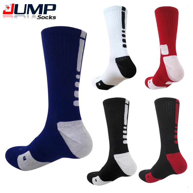 1 Pair Professional Basketball Elite Socks Fashion Thicken Towel Outdoor Sports Athletic Sport Socks For Men