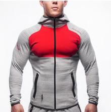 2016 Fitness Men Hoodies Gymshark Brand Clothing Men Hoody Zipper Casual Sweatshirt Muscle Men's Slim Fit Hooded Jackets(China (Mainland))