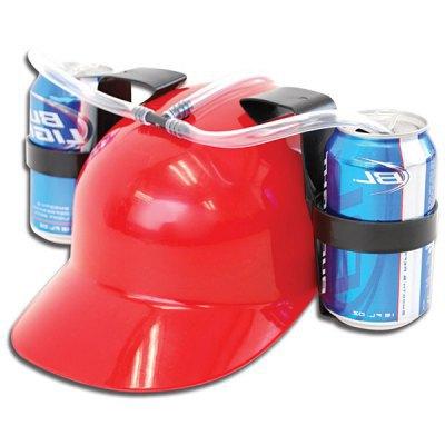Beer Soda Hands free Dringking Helmet Straw Holder Drink Cup Creative Gadget(China (Mainland))