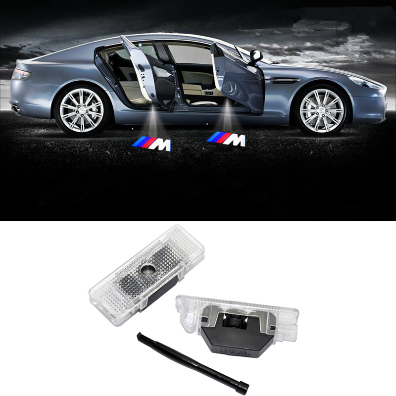 2x LED Car Door Courtesy Laser Projector Logo Ghost Shadow Light FOR BMW E52 E39 E53 x5 M Performance(China (Mainland))