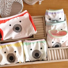 Polar bear cute cartoon women underwear candy colored panties string tanga briefs intimo donna bragas panty calcinha fio dental