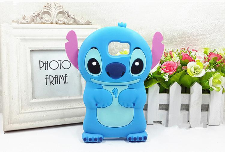 2015 Cute 3D Cartoon Stitch Soft Silicone Case Cell Phone Cover For Samsung Galaxy S6 Protective Shell(China (Mainland))