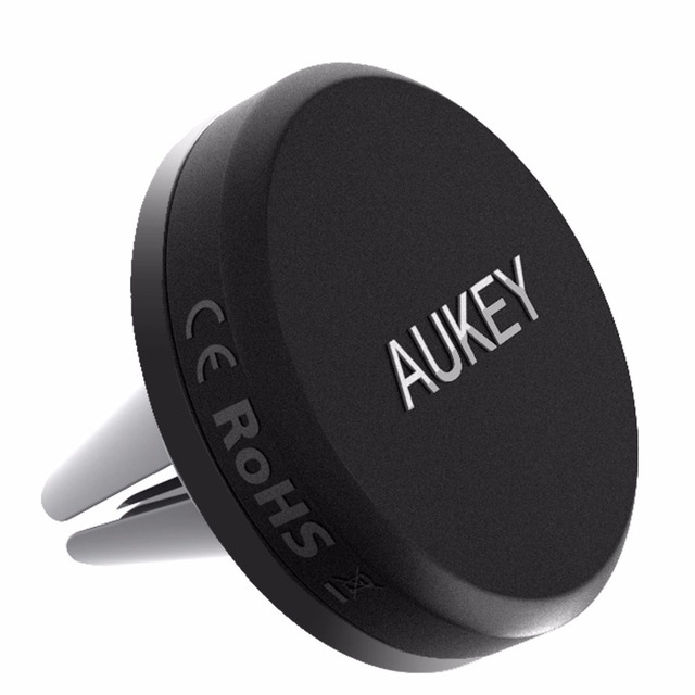 AUKEY Car Mount Reinforced Magnetic Air Vent Mount Smartphone Holder Cradle for iPhone 6 6S Samsung S6 Android Cellphones  More
