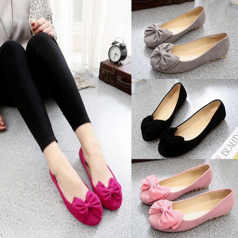 2016 new Fashion women shoes solid candy color patent PU tip shoes women flats ballet shoes women bowknot flats S304(China (Mainland))