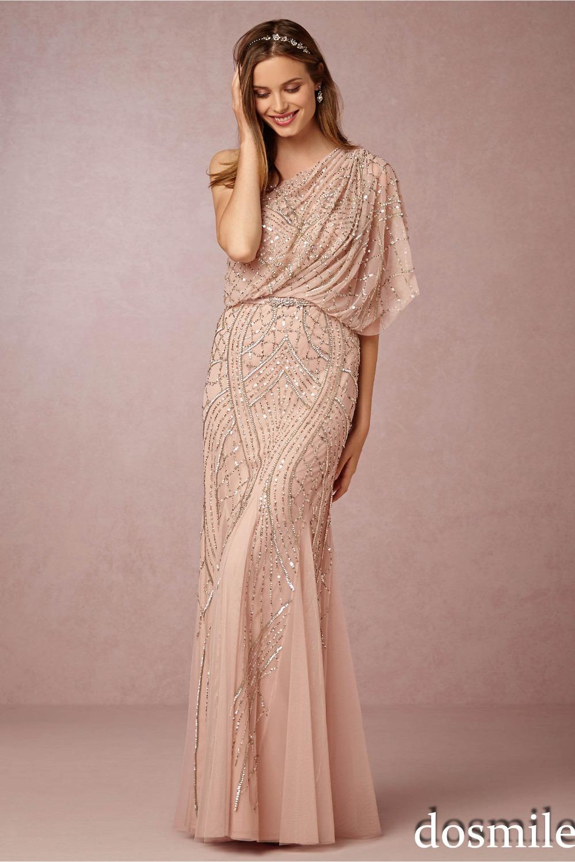 2016 gorgeous chagne gold sequin bridesmaid dresses one