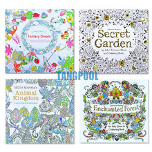 4pcs/lot Coloring Antistress Painting Book 4 Kinds Pattern Children Adult Relieve Stress Drawing Secret Garden Colouring Books(China (Mainland))