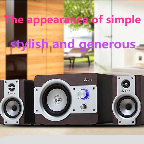 Electronics 2015 new hot Golden field g100 2.1 computer multimedia active speaker subwoofer wood desktop audio(China (Mainland))