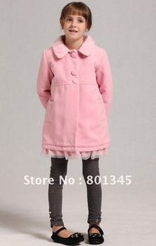 Free shipping,Wholesale!! 1pcs children classic cashmere coat,kids wear,Autumn winter children coat,fashion wear,wool coat