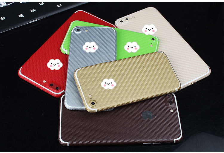 14colors Biz Classic Full Body Carbon Fiber Skinny Cover Decal Sticker For iphone7/7plus i7 Decor Sticker Body Protection(China (Mainland))