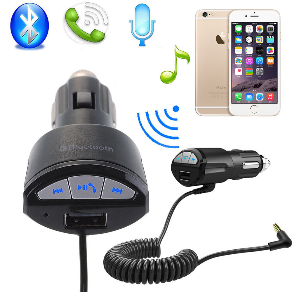 Car Bluetooth Aux Receiver Cable Adapter For Vw Rcd210: New A2DP 3.5mm Car Handsfree Bluetooth AUX Stereo Audio