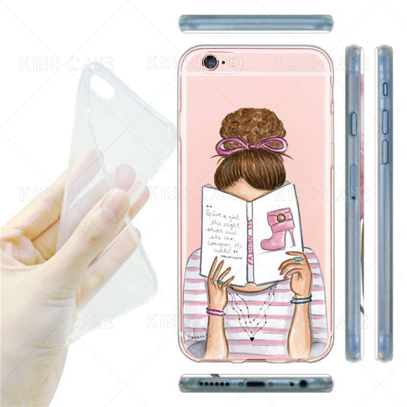 Fashion Music Popular Michael Karl Cartoon Fundas for iPhone Case 6 6s Plus 7 PlusTPU Transparent Silicone Waterproof Phone Case