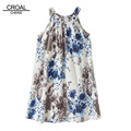 8 years old or older Fashion Ink Painting Girls Dresses Breathable Sleeveless Vests Dress Girls Dress
