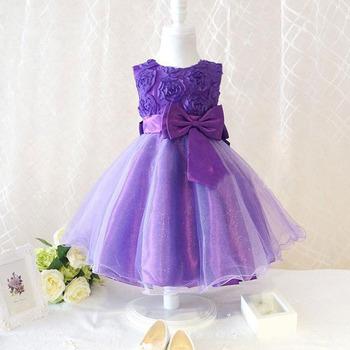 Мода дети ребенок шифона цветок бантом ну вечеринку платье вечернее платье пуховкой платья бесплатная доставка