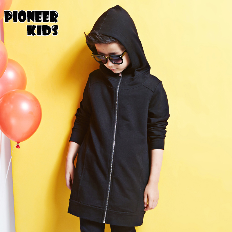 Pioneer Kids 4-16T Boy Clothes Boys long Jacket 2016 Spring Letter Boys Outwear For Children Brand Kids Coats 6J779(China (Mainland))