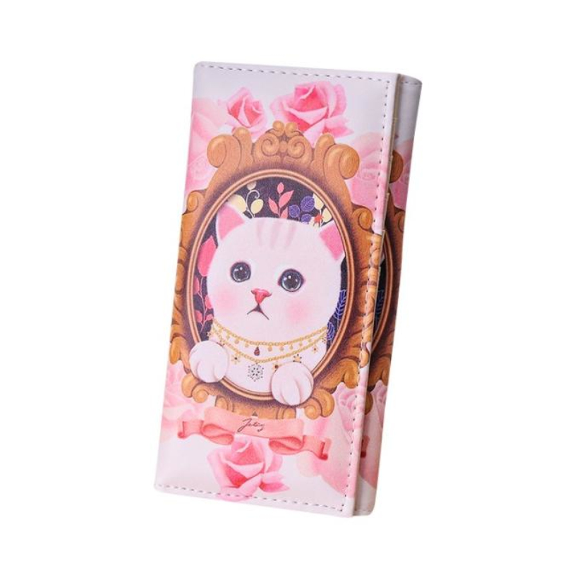 Brand new Clutch Wallets Fashion Cartoon Cat pattern women Leather Wallet purses Hot Long Card Holder bags Gift 1pcs(China (Mainland))